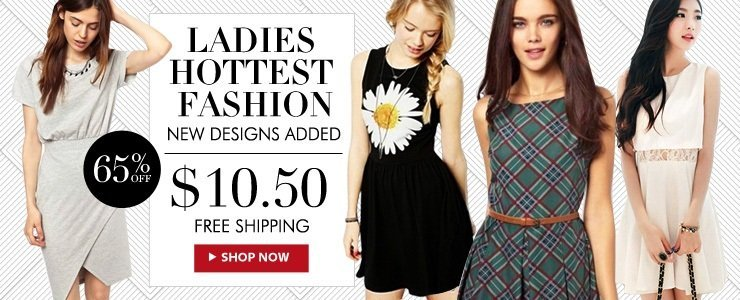 Ladies Hottest Fashion at $10.50! Free Shipping!