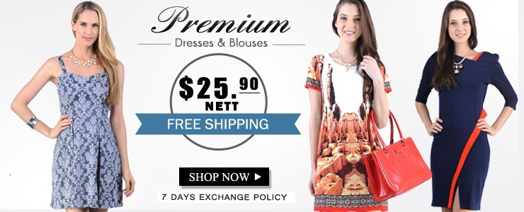 [Glam Mod] Premium Printed office Ladies Dresses OVER 80 DESIGNS