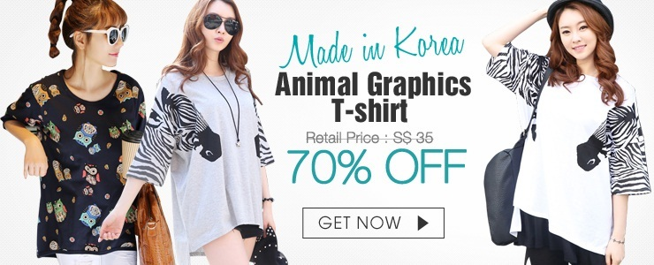Made in Korea Animal Graphics T-shirt