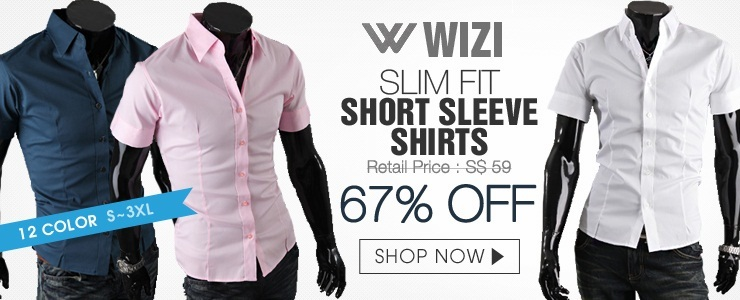 [WIZI]NEW / SLIM FIT POCKET POINT SHIRTS