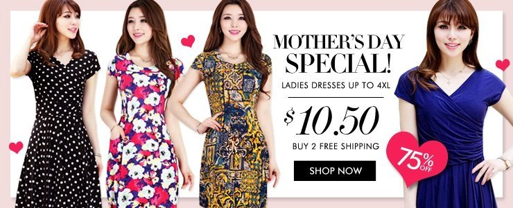 [Mother's Day Special] Ladies Dresses Up To 4XL