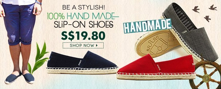100% Hand Made!! Stylish Slip On Shoes!!