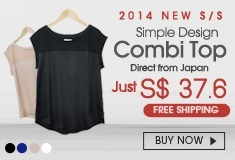 2014 New S/S Simple Design Combi Top