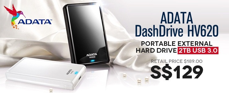 ADATA HDD 2TB Just $129.00 Cheapest in Qoo10