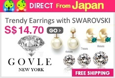 [GOVLE NEW YORK] Trendy Earrings with SWAROVSKI and Pearl
