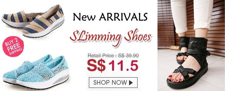 Slimming shoes  Wedge Heels Lady Sport Shoes High Heels