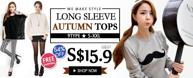 [54%OFF] Long Sleeve autumn Tops