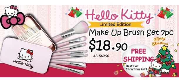Hello kitty Limited edition Christmas gift Make up Brush set