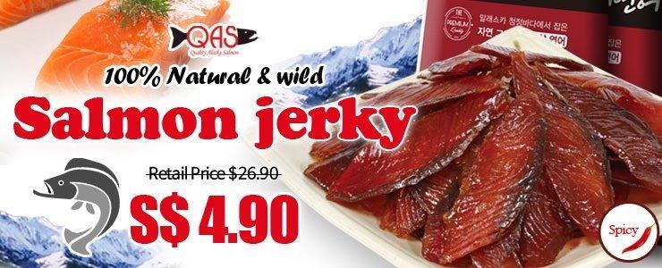 [Salmon jerky]100% Natural & wild $4.90