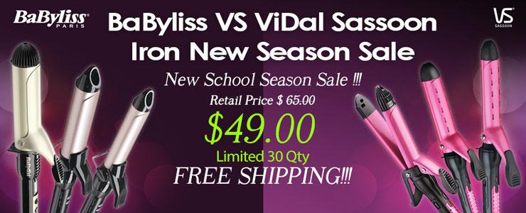 Babyliss VS ViDal Sassoon Hair curler New season Sale