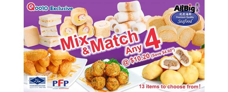 [All Big] Mix 'n' Match 4 Deal!
