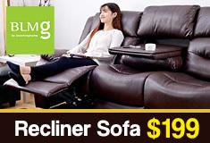 [BLMG_SG] Recliner Sofa $199!