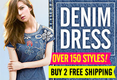 Buy 2 Free Shipping - Denim Dresses