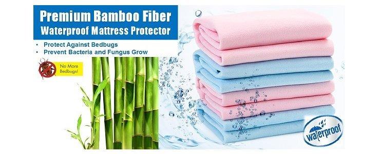 Premium Bamboo Fiber Waterproof Mattress Protector