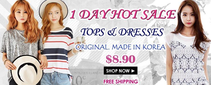 [1 Day Special] Korean Style Best Selling Tops & Dresses