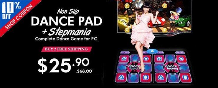 Non-Slip Dance Pad + Stepmania Complete Dance Game