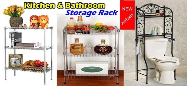 Kitchen & Bathroom Storage Rack