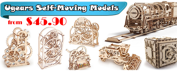 Ugears Self Moving Mechanical 3D Model Puzzle