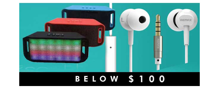 Below $100