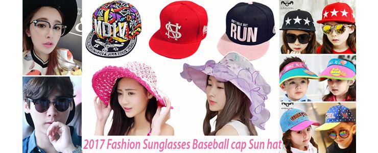 2017 Fashion Sunglasses Baseball cap Sun hat
