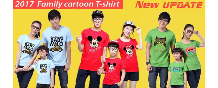 2017  Family cartoon T-shirt