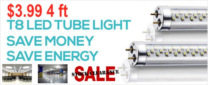 LED T8 Tube 4 Feet Clearance Sales