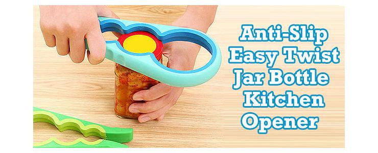 Anti-Slip Easy Twist Jar Bottle Kitchen Opener