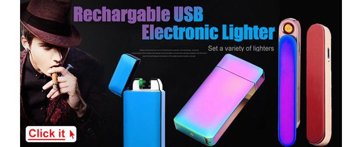 USB Re-chargable Lighter Superman Design USB Electronic Cigarette Lighter Eco-Friendly