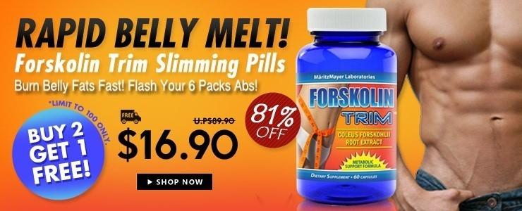 Buy 2 Free 1* Rapid Belly Melt - Forskolin Trim -  Weight Loss