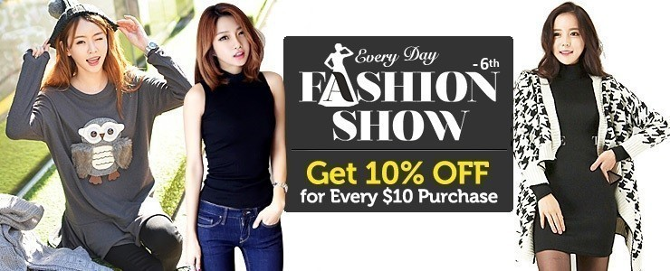 ★6th Fashion Show★ Get 10% OFF for Every $10 Purchase on All Orders!