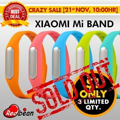 [READY STOCK] Original Xiaomi Mi Band Bracelet Wristbands | Water Resistant IP67 | Fitness Monitor | Sleep Tracker | 30 Days Standby Power | 6 Month Warranty | Work for all Android OS Phone