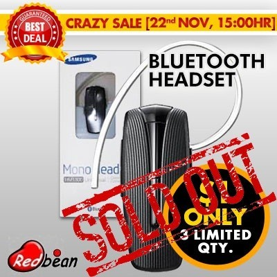 SAMSUNG BLUETOOTH HEADSET HM1300 | 6 Months Warranty | Bluetooth 3.0 | Simple Pairing technology | Multi Pairing | Crystal clear call clarity | Up to 8 Hours of talk time and 300 Hours of stand by