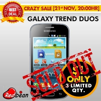 [Export Set][Local Seller] Samsung Galaxy Trend Duos S7562C | 3G | 4 inches | Dual Sim Card | Android | Wifi | Bluetooth | FREE Playstore Preload | Back camera only | 6 Months Warranty