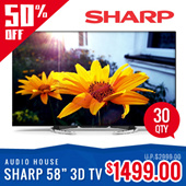 Sharp 58INCH 3D ANDRIOD SMART UHD LED TV LC58UE1M 1+2 YEARS SHARP WARRANTY***