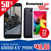 [Latest Released 4G Phone] Lenovo A3600D 4.5inch Quad Core 4G / LTE / Dual Sim Android Phone !!! 6 Months Warranty !!