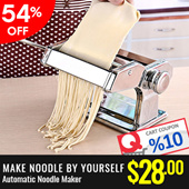 Auto Pasta Maker Noodle Machine/Homemade Pasta/Stainless Steel/Multi Purpose Household Manual Noodle Pressing Machine/Kitchen/Home Kitchen Tool【M18】