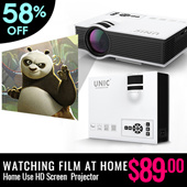 Watching Film At Home!Mini HD House Use Projector / Large Screen Beam projector/ Movie Projector / Screen projector/Free HDMI UC40 /VGA Cable Free【M18】