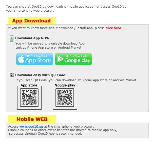 How can I use Qoo10 on mobile?
