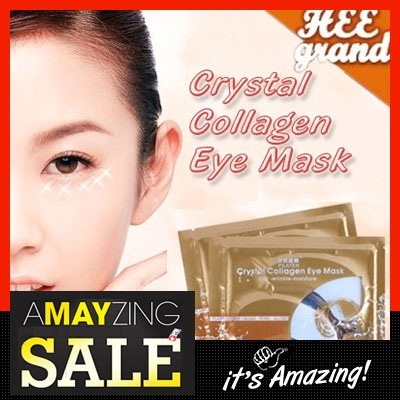 [HEE GRAND]Crystal Collagen Eye Mask Collagen Gold Eye Mask Dark Circles Eye Bags - Purchasefreesh