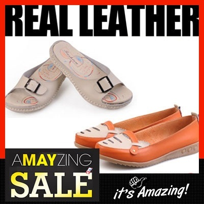 ☆ New Arrival☆ Ladies Leather Shoes in 18 Designs 7 Colours! Real Cow Hide Ca