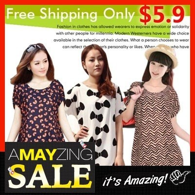 Women's Loose Fit Tops/ Shirts/ Blouse ★Korea style Tunic