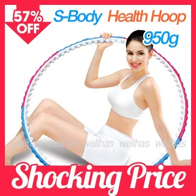 ★S Body Hoop★HEALTH HULA HOOLA HOOP JUMP ROPE Fitness Exercise Diet/Abdominal Exerciser