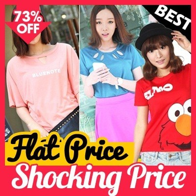 [sheis_J]time saleAll Flat Price!! t-shirts collection new design /shiyijie