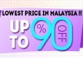 Lowest Price in Malaysia!! Up to 90% Off