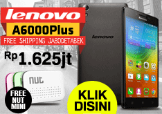 Beli Lenovo A6000 Plus Gratis Nut Mini Smart Tracker Rp.1,625,000 || FREE SHIPPING