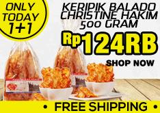 Free Ongkir Keripik Balado Hanya Rp.124.000!!!