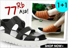 Free Ongkir 1+1 Women Shoes & Sandal Only Rp 77.000