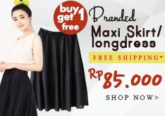 Cuma 85.000 Buy1 Get1 Branded Maxi Skirt + Free Ongkir!