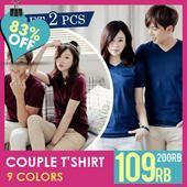 [SPECIAL VALENTINE DAY] GET 2 PCS COUP COUPLE TSHIRT / Basic tee Basic tshirt kaos unisex kaos pria kaos wanita baju