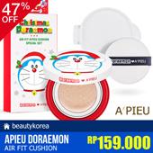 Limited! Christmas Special Set [APIEU] Doraemon Air Fit Cushion + 1 Refill + 1 Puff